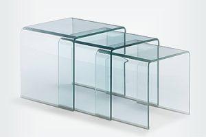 Столики из гнутого стекла